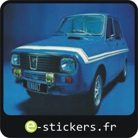 Kit bandes blanches R12 gordini